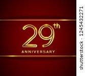 29   twenty nine years... | Shutterstock .eps vector #1245432271