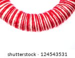Red Round Wreath Isolated On...
