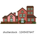neighborhood isolated icon | Shutterstock .eps vector #1245437647
