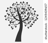 ornamental tree vector... | Shutterstock .eps vector #1245439657