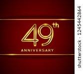 49 forty nine years anniversary ... | Shutterstock .eps vector #1245442864
