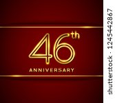 46  forty six years anniversary ... | Shutterstock .eps vector #1245442867