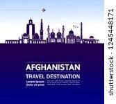 afghanistan travel destination... | Shutterstock .eps vector #1245448171