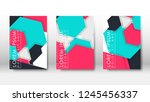abstract cover with hexagon... | Shutterstock .eps vector #1245456337