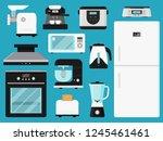 set of kitchen appliances.... | Shutterstock .eps vector #1245461461