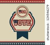 poster illustration of votes of ... | Shutterstock .eps vector #124546279