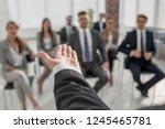 rear view.business coach... | Shutterstock . vector #1245465781