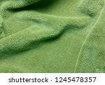 green soft  fleece texture. the ... | Shutterstock . vector #1245478357