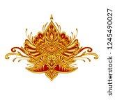 decorative element emblem or...   Shutterstock .eps vector #1245490027