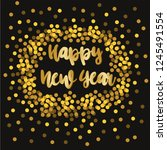 happy new year. holiday vector... | Shutterstock .eps vector #1245491554