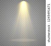 the spotlight shines on the... | Shutterstock .eps vector #1245491671