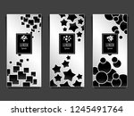 set templates for package from...   Shutterstock .eps vector #1245491764