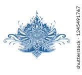 decorative element emblem or...   Shutterstock .eps vector #1245491767