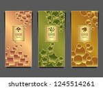 set templates for package from...   Shutterstock .eps vector #1245514261