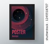 poster design. modern design in ... | Shutterstock .eps vector #1245518707