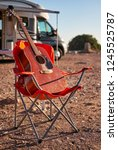 vertical view red acoustic... | Shutterstock . vector #1245525787