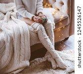 cold autumn or winter weekend... | Shutterstock . vector #1245526147