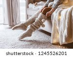 cold autumn or winter weekend... | Shutterstock . vector #1245526201