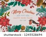 set of vector christmas... | Shutterstock .eps vector #1245528694