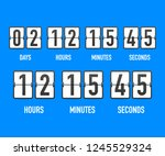 vector countdown clock counter...