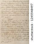 antique unreadable calligraphic ... | Shutterstock . vector #1245548497