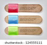 vector one two three steps old... | Shutterstock .eps vector #124555111