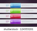 vector one two three steps... | Shutterstock .eps vector #124555201