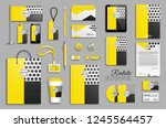 corporate identity template set.... | Shutterstock .eps vector #1245564457