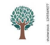 vector tree simple silhouette... | Shutterstock .eps vector #1245569077