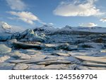 Iceland Glacier With Thick...