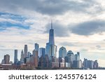 the skyline of lower manhattan  ... | Shutterstock . vector #1245576124