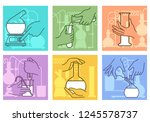 chemical research combination.... | Shutterstock .eps vector #1245578737