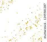 golden confetti. gold texture... | Shutterstock .eps vector #1245581287