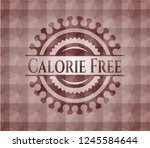 calorie free red badge with... | Shutterstock .eps vector #1245584644