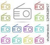 radio icon in multi color....