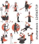 greek   roman gods  set of... | Shutterstock .eps vector #124565719