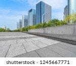 empty floor with modern... | Shutterstock . vector #1245667771