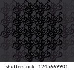 twirling  ornamental abstract... | Shutterstock .eps vector #1245669901