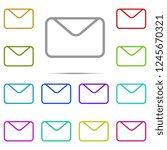 letter icon in multi color....