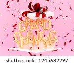 grand opening phrase sign... | Shutterstock . vector #1245682297