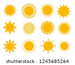 sun icon set  vector... | Shutterstock .eps vector #1245685264
