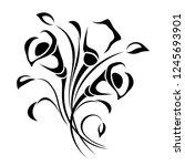 vector black and white... | Shutterstock .eps vector #1245693901