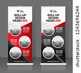 roll up banner design template  ... | Shutterstock .eps vector #1245696244