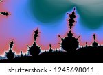 pastel color fractal in high... | Shutterstock . vector #1245698011