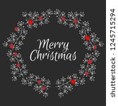 christmas card. hand drawn... | Shutterstock .eps vector #1245715294