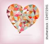 Retro Heart Made From Color...