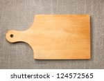 photo of the cutting board on... | Shutterstock . vector #124572565
