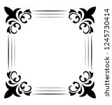 embroidered monogram line icon... | Shutterstock .eps vector #1245730414