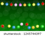 illustration of a chain of... | Shutterstock . vector #1245744397