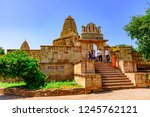 Small photo of Chittorgarh, India-October 2018: Meera Temple built it in an ornate Indo–Aryan architectural style associated with the mystic saint-poet Mirabai who was an ardent devotee of Lord Krishna